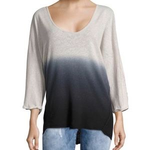 Free People 🖤 We The Free Blue Ombre Top